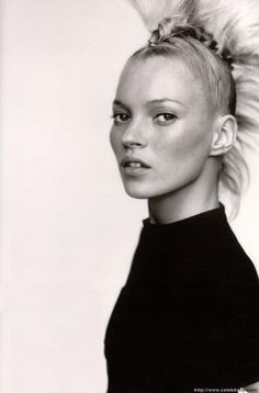 Kate Moss faux hawk