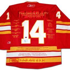 NHL Calgary Flames Theoren Fleury Career Jersey