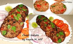 Utterly delicious kababs that are soft and moist. They taste awesome with a side of salad or tomatoes and onions and some lemon squeezed on top! I added 1 pack of shami chapli kabob to the mix instead of breadcrumbs/flour and spices.