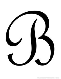 Nifty image regarding letter b printable