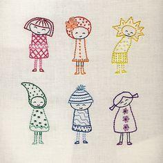 Finished Rainbow Girls by Wendi Gratz, via Flickr