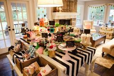 Favorite things party by Jenny Cookies! Via Kara's Party Ideas KarasPartyIdeas.com #eatmoredessert I LOVE the decor and design of this party!!!