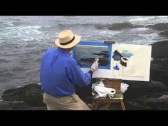 ▶ David Dunlop Fog Painting at Prouts Neck, ME - YouTube