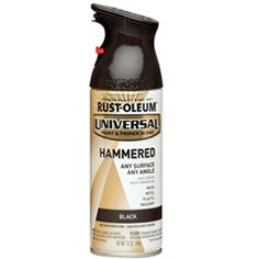 Universal spray paint - Black Hammered-This one is even textured! A variety of metals that could be used to spray any ugly gold door handles and other similar things.