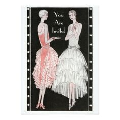 "1920's Party Invitation 5"" X 7"" Invitation Card"