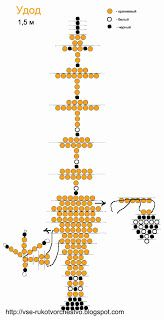 Hoopoe of beads. Bird netting scheme