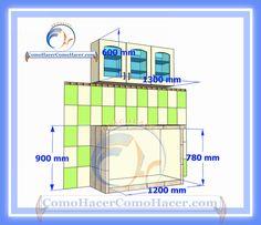 Cocina mesada de concreto guía detallada para colocar puertas melamina | Web del Bricolaje Diseño Diy