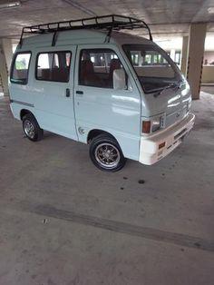 ��ͧ��â��ö������Daihutsu Hijet s85 Tiny Camper, Car Camper, Camper Van, Campers, Honda Van, Suzuki Every, Honda Scrambler, Kei Car, Old School Vans