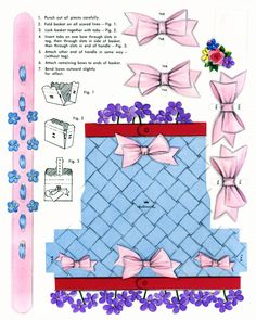 Vintage May baskets, super cute.   Link through to larger printable sizes...