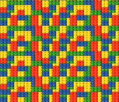 Blocked fabric by implexity on Spoonflower - custom fabric