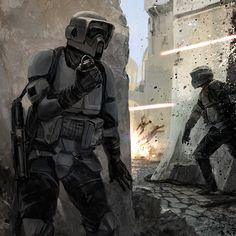 Star Wars Art - by Kai Lim #StarWars #Stormtroopers #ScoutTroopers