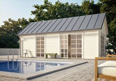 Outdoor Sauna, Outdoor Decor, New England Hus, Sauna House, Garden Office, My House, Home Improvement, Exterior, Restaurant