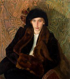 Portrait of Eugenia Dunin-Borkowska by Stanisław Ignacy Witkiewicz, 1912 (PD-art/70), Muzeum Narodowe w Krakowie (MNK)