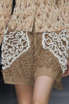 Issey Miyake Spring 2011 Be inspired- Thinking....use Bernina foot 43 & Crotchet out?