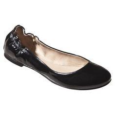 Women's Mossimo® Ona Patent Ballet Flat - Black