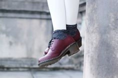 Dr Martens Amory heeled lace ups with glitter socks
