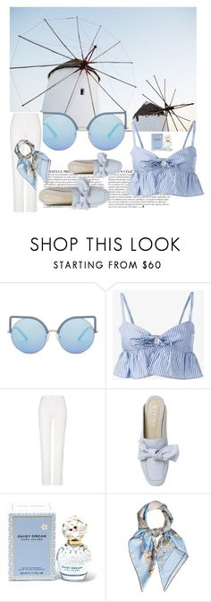 """""""Spring blue baby blue style"""" by ecemstyles on Polyvore featuring Anja, Matthew Williamson, Maryam Nassir Zadeh, ESCADA, Marc Jacobs and Hermès"""