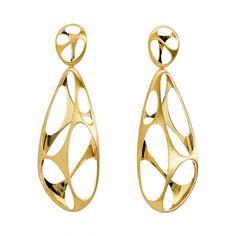 Gold earrings by Antonio Bernardo