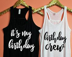 Birthday Girls Entourage XS-2XL birthday tank 21st by ShopatBash