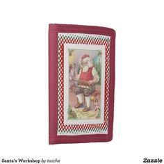 #Santa #Workshop Tri-fold #Wallet #customgifts #ATSocialMediaUK #vintage #xmas #ChristmasCountdown2020 #toys #fatherchristmas #santaclaus #santasworkshop #northpole