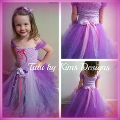 Repunzel or Tangled Tutu Dress--1yr up to 14yrs old available. $40.00, via Etsy.