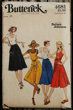 Butterick 4681 1970s 70s Betsey Johnson of by EleanorMeriwether