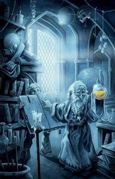The old magician - Le vieux magicien High Fantasy, Medieval Fantasy, Fantasy World, Elfen Fantasy, Fantasy Wizard, Dnd Wizard, Desenho Tattoo, Tatoo Art, Fantasy Inspiration