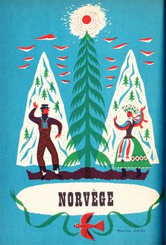 Vintage Illustration, Norway.