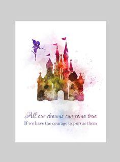 Schloss Disney inspiriert zitieren Kunstdruck/Poster von SubjectArt