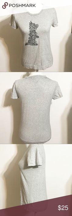 "Mult Prinkshop x J Crew Women/'s /""Jane of All Trades/"" T Shirt Gray Sizes"