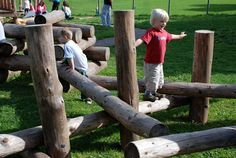 Great for balance!  Playground Build & Design | Natural Child Play | Earth Wrights Ltd