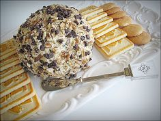 Chocolate Chip pecan cheese ball - serve with cookies