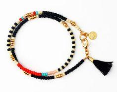Beaded Bracelet Charm Bracelet Friendship by feltlikepaper on Etsy