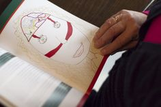 pagina met tekening van een vol hoofd uit het boek de MatriXmethode van Ingrid Stoop