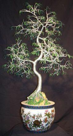 ORIENTAL BONSAI - Wire Tree Sculpture -