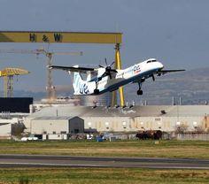 A plane takes off fr