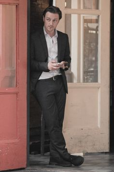 James McAvoy on the set of The Disappearance of Eleanor Rigby