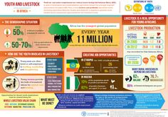 Youth and Livestock in Africa - Livestock is a real opportunity for young africans. Did you know Africa has the youngest global population? A more modern and profitable agriculture sector (including aquaculture fisheries, forestry and livestock) is required to generate much needed decent employment opportunities for the Continent's youth.