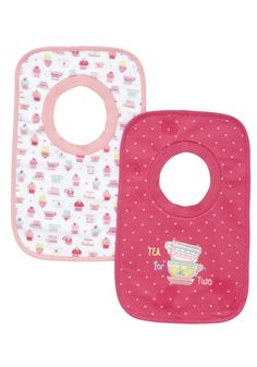 Clothing at Tesco | F&F 2 Pack of Teacup Print Feeder Bibs > accessories > Newborn > Baby