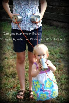 for someone announcing twins - wish I had thought of doing something like this :)