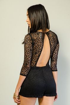 LAVISH LACE SHORT ROMPER $30.99