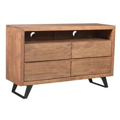 Featuring a stylish blend of acacia wood and iron, this clean-lined chest brings industrial loft appeal to your den or master suite. Modern Rustic Bedrooms, Smart Home Technology, Industrial Loft, Acacia Wood, Chest Of Drawers, Joss And Main, Shelves, Cabinet, Interior Design