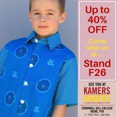 @jennidezigns posted to Instagram: Something cool for the boys too!! Dont miss out on vibrant, stand out shirts for all occasions ...   #KAMERS2018 #shoplocal #buylocal #ethical #ethicalfashion #shophandmade #handmadeisbetter #fash_rev #christmasmarket #KAMERS #Gauteng #Christmasshopping #kidsfashion #kidsstyle #shopsmall #lovelocal #supportsmallbusiness #sustainablefashion