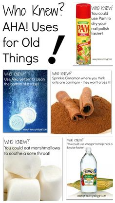 GREAT ideas for new uses for old things!!!