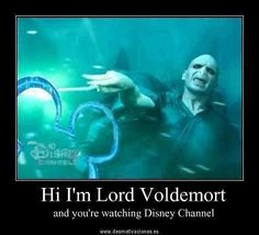 Hi I'm Lord Voldemort and your watching Disney channel. Hilarious.