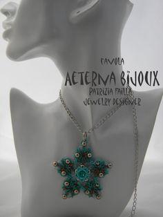 Beading tutorial Favola beadwork bead pattern by aeternabijoux
