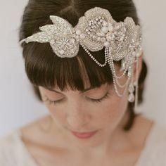 Headpieces by Erica Elizabeth Designs   abloggingbride.com