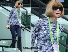 Anna Wintour wearing jeans...