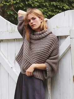 chunky sweater // simple skirt