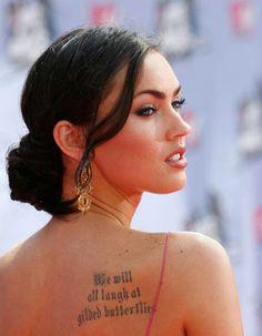 8ee37283a Crazy Love : Back Shoulder Tattoos For Women Top Tattoos, Back Tattoos,  Quote Tattoos